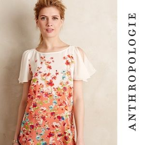 Anthropologie - Maeve - Silk Floral Tunic